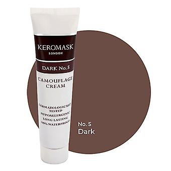Keromask Full Cover Concealer Dark No 5 | Waterproof Camouflage Makeup | Hypoallergenic | 15ml