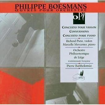 P. Boesmans - Con Vn/Conversions/Con Pno [CD] USA import