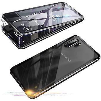 Mobiilikotelo karkaistussa lasissa, jossa on yksityisyyden suoja Samsung Galaxy Note 10 Plus - musta