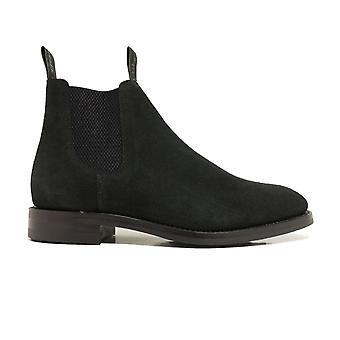 Loake Chatsworth Black Suede Leather Mens Chelsea Boots