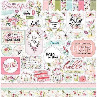 Carta Bella Flora No.3 12x12 Tuuman Elementti Tarra