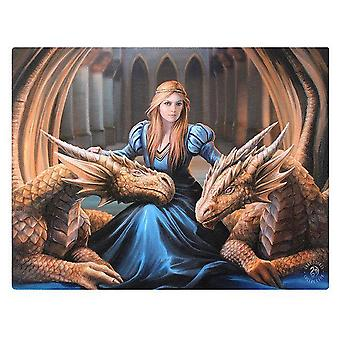 Anne Stokes 19x25cm Fierce Loyalty Canvas
