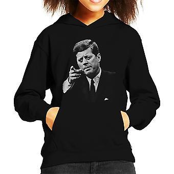 Lørdag kveld Post John F Kennedy Point Kid's Hette Sweatshirt