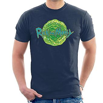 Rick and Morty Logo Against Portal Men's T-Shirt