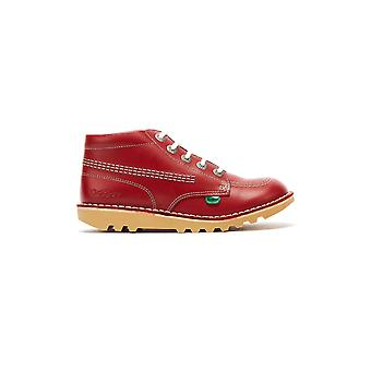 Kickers Kick Hi Zip Toddlers Red / White Leather Boots