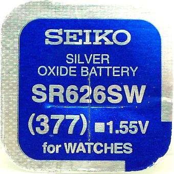 Seiko 377 (sr626sw) 1.55v Silver Oxide (0%hg) Mercury Free Watch Battery - Made In Japan