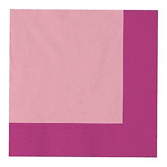 Διπλές ροζ πετσέτες γεύματος 33cm 3ply