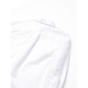Essentials Big Boys' Husky Langarm Oxford Shirt, weiß, XXL(H)
