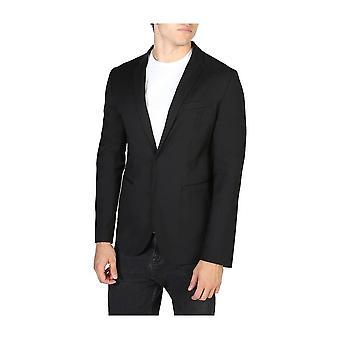 Emporio Armani -BRANDS - Clothing - Classic Jacket - V1G620V1201_999 - Men - Schwartz - 56