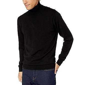 Brand - Goodthreads Men's Merino Wool/Acrylic Turtleneck Sweater, Blac...