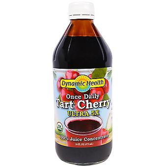 Dynamic Health  Laboratories, Once Daily Tart Cherry, Ultra 5X, 100% Juice Conce