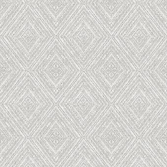 Imani Geometric Wallpaper Grey Holden 65670