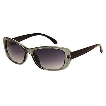 Sonnenbrille Damen    matte grün mit grauer Linse (270 P)