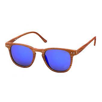 Solglasögon Unisex Wayfarer blå/ljusbrun (20-206A)