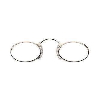 Läsglasögon Unisex Näsa Reader Oval Guld Styrka +3,50