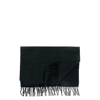 Comme Des Garçons Shirt W28202black Men's Black Wool Sjaal