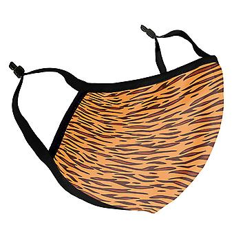 Tiger Stripes Pattern Adult Reusable Fabric Face Mask
