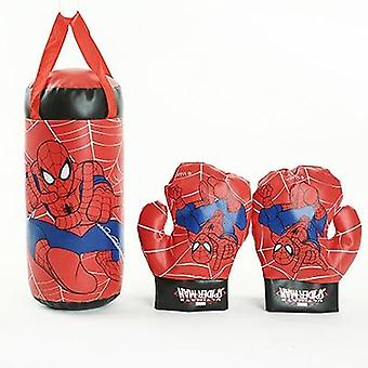 Kids Boxing Gloves Jeu éducatif Jouet Ensemble, Décompression Anime Spider Man