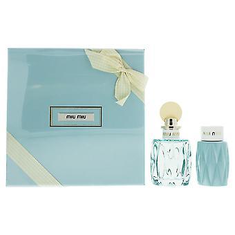 Miu Miu L'Eau Bleue Eau de Parfum 100ml & Perfumed Body Lotion 100ml Gift Set