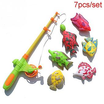 Children Fishing Toys With Plastic Rod And 6 Magnetic Fish Game