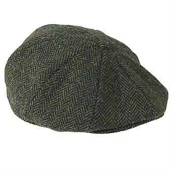 ZH015 (DARK GREEN HB S 56cm ) Arran Harris Tweed 8-Pc Cap