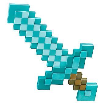 Minecraft Steve Armor Creeper Boys Mens Weapon Costume Accessory Diamond Sword