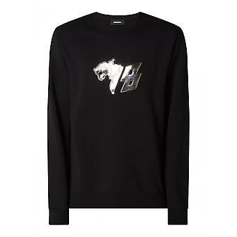 Diesel S-girk N82 Cotton Black Sweatshirt
