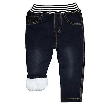 Winter Warm Cashmere Kids Baby Pants-  /' Cotton Trousers Jeans 1-6y