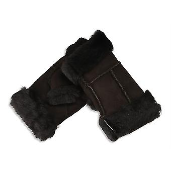 Nordvek Womens Sheepskin Fingerless Gloves - Stylish Wrist and Finger Cuff # 309-100