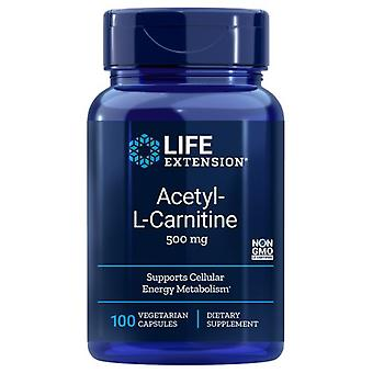 Life Extension Acetyl L Carnitine, 500 mg, 100 Vcaps