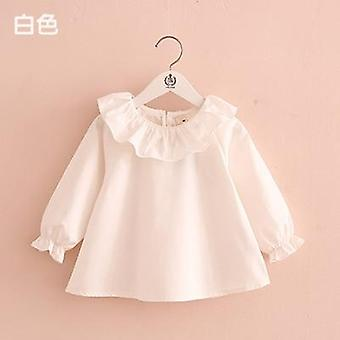 Little Shirts, Spring Fashion Ruffle Neck, Blouses Cute Long Sleeve Tops