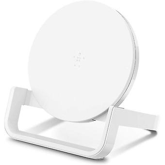 Belkin Boost Up Fast Qi Wireless Charging Stand 10 W - UK 3 Pin Plug  - White