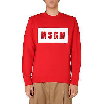 Msgm 2940mm6820759918 Mænd's Rød Bomuld Sweatshirt