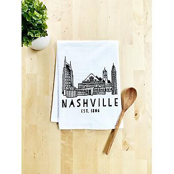 Nashville Skyline Dish Towel