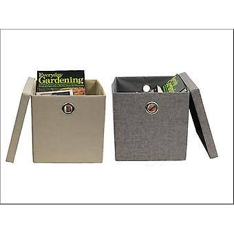 JVL Foldable Fabric Storage Box Assorted 13-324