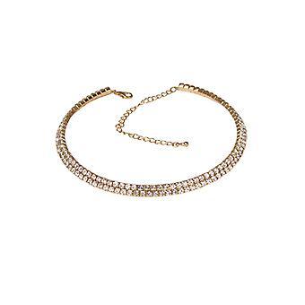 Crystal Rhinestone gargantilla señoras ajustable claro diamante collar de fiesta de fiesta clubbing fiesta joyería para las mujeres