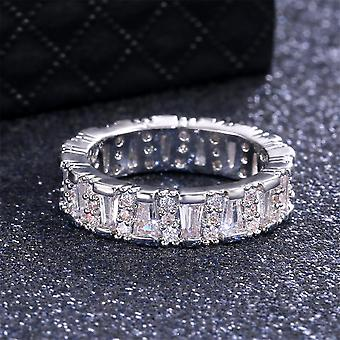 Handmade 925 silver plated ring with zircon for women diamond
