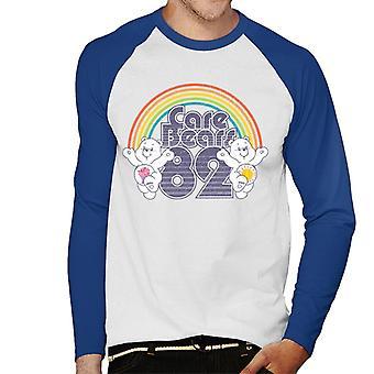Care Bears 82 Rainbow Funshine Bear Jaa Bear Men's Baseball Pitkähihainen T-paita