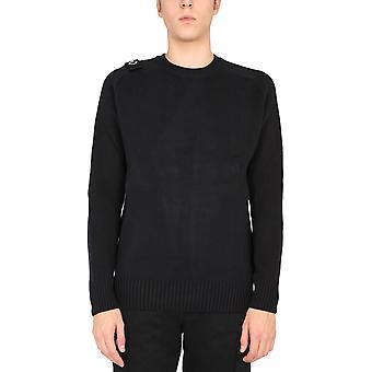 Ma.strum Mas5319m000 Men's Black Cotton Sweater