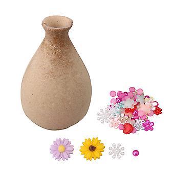 7.3x11.2CM Crafts Art DIY Wood Vase Party Activity Kid Activity Gift