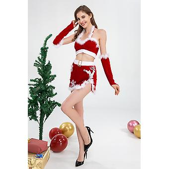 Christmas Costume Elk Red Adult Women Japanese And Korean Sexy