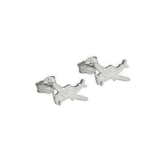 Boucles d'oreilles Stud Little Plane Silver 925