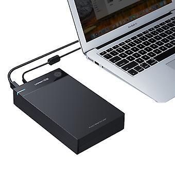 UGREEN US222 HDD-hölje 2,5 / 3,5 tums SATA till USB 3.0 SSD-adapter hårddisk låda extern HDD-fodral, stöd UASP-protokollet