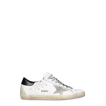 Golden Goose Gmf00102f00031810220 Hombres's zapatillas de cuero blanco