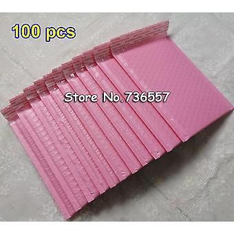 25pcs 50pcs 100pcs Tamanho externo 5.9x7,8 Polegada 15 * 20cm Rosa Poly Bubble Mailer Self