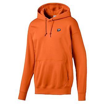 Puma Orange Street Style Mens Jumper Casual Hoodie 596002 17