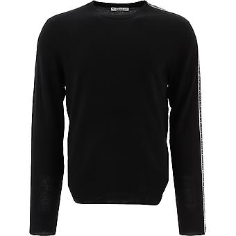 Givenchy Bm90f3404x001 Männer's Schwarze Wolle Pullover