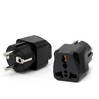 Eu Plug Adapter (uk Us Au To Eu ) Universal Jack