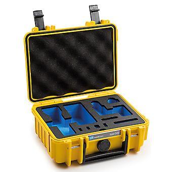 B&W Osmo Caso Tipo 500 para DJI Osmo Pocket 2 con inserto de espuma, amarillo