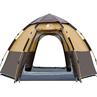 HEWOLF Pop Up Tent for 3 to 4 Person Automatic Opening Hexangular Hydraulic Double Layer Tent